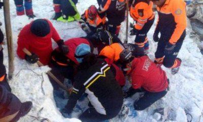Çaykara'daki Çığ'da Ekiplerin Kurtarma Görüntüleri