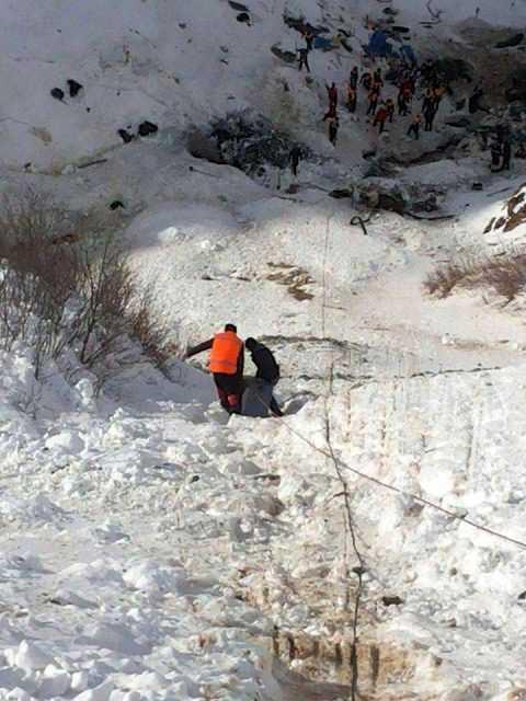 Çaykara'daki Çığ'da Ekiplerin Kurtarma Görüntüleri 5