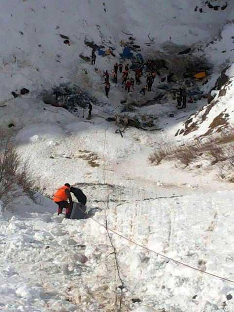 Çaykara'daki Çığ'da Ekiplerin Kurtarma Görüntüleri 11