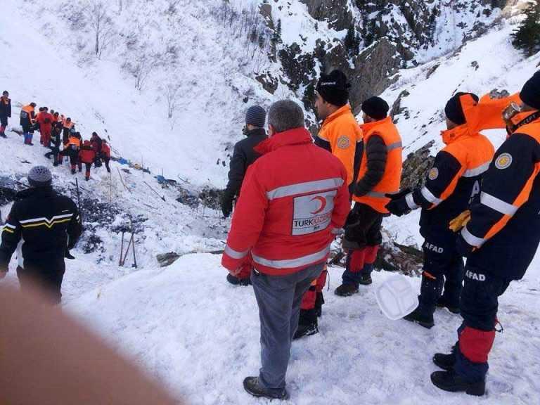 Çaykara'daki Çığ Felaketinde Son Dakika