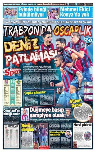 Trabzonspor'un Akhisar Galibiyeti Manşetlerde 5