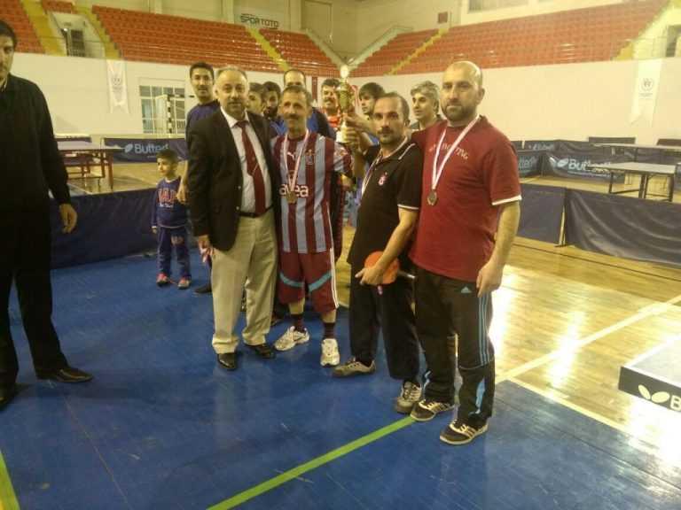 Masa Tenisinde Çaykara Müftülüğü il 3.sü Anadolu Lisesi 4. oldu 2