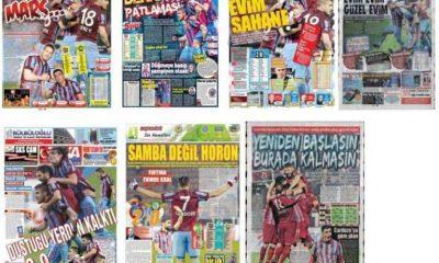 Trabzonspor'un Akhisar Galibiyeti Manşetlerde