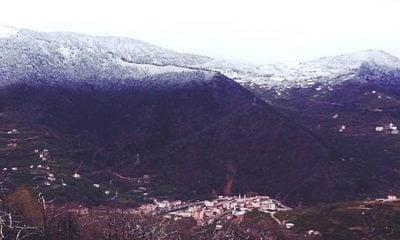 Çaykara'da Nisan Kar'ı