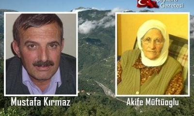 Şahinkaya'da Mustafa Kırmaz ve Akife Müftüoğlu vefat etti