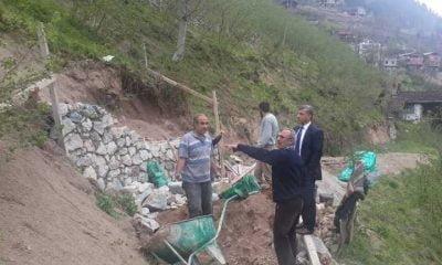 Taşkıran'da heyelan tehlikesi yaşayan Zeki Erdoğan'a yardım eli