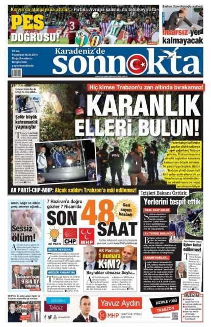 Trabzon Yerel Basını: Kurşun Sıkan Bizden Değildir 6