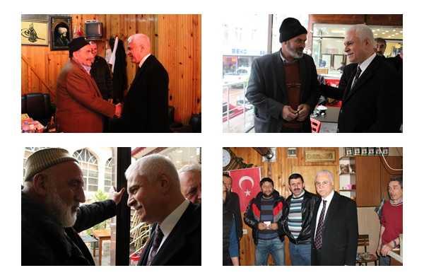 MHP adayı Koray Aydın seçim çalışması için Çaykara'daydı 2