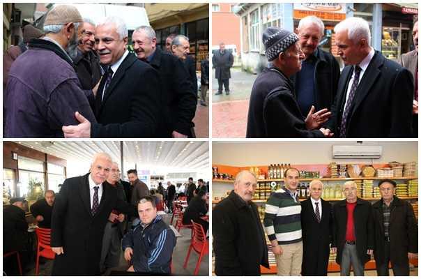MHP adayı Koray Aydın seçim çalışması için Çaykara'daydı 3