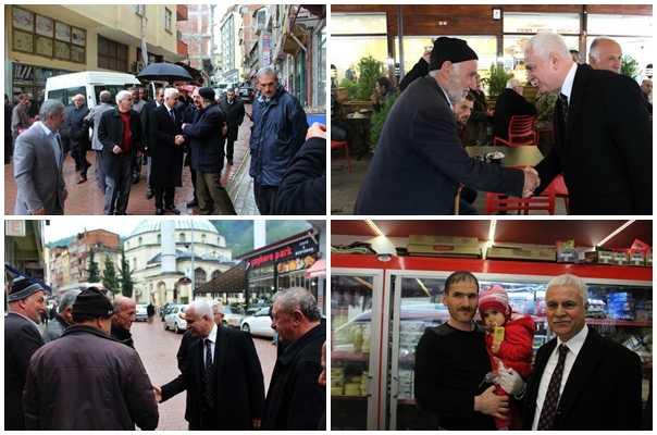 MHP adayı Koray Aydın seçim çalışması için Çaykara'daydı 4