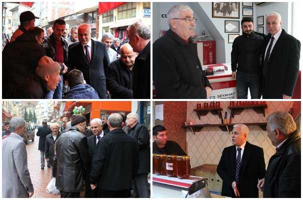 MHP adayı Koray Aydın seçim çalışması için Çaykara'daydı 5