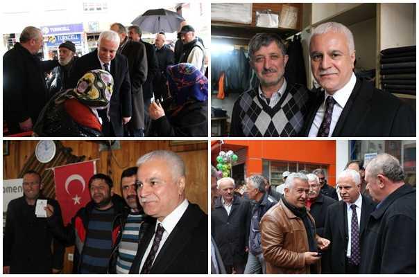 MHP adayı Koray Aydın seçim çalışması için Çaykara'daydı 6