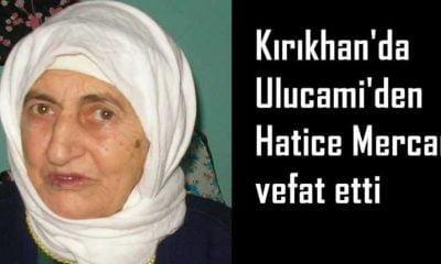 Kırıkhan'da Hatice Mercan vefat etti