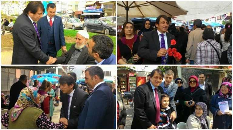 Çaykaralı Ak Parti adayı Zekeriya Birkan Bursa'yı karış karış dolaşıyor 3