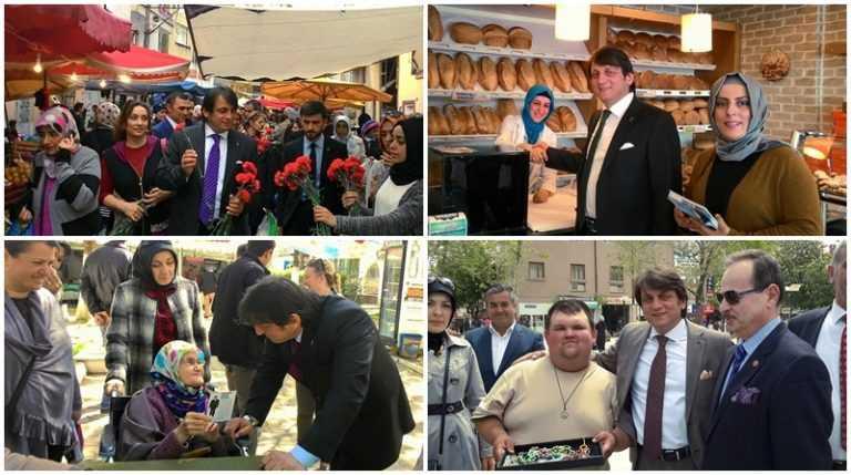 Çaykaralı Ak Parti adayı Zekeriya Birkan Bursa'yı karış karış dolaşıyor 8