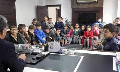 Öğrenciler Belediye Başkanı Hanefi Tok'u Ziyaret Etti