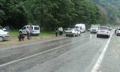 Yine aynı yerde trafik kazası