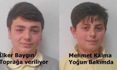 Kazada vefat eden İlker Baygın toprağa verildi, Mehmet Kalma  yoğun bakımda tedavisine devam ediliyor