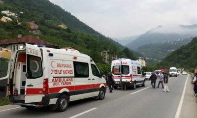 Çaykara'daki kazada bir öğrenci öldü, bir yaralı var