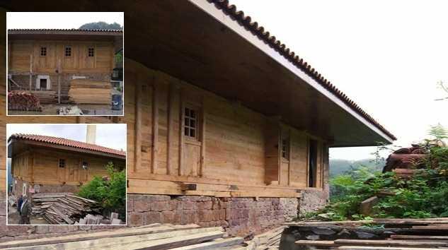 Taşören Camii aslına uygun olarak inşa ediliyor