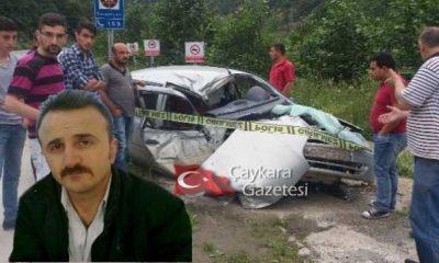 Çaykara'da Kaza; Yılmaz Aydın hastaneye kaldırıldı