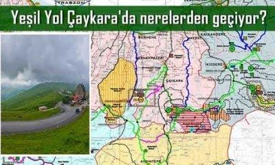 Yeşil yol Çaykara'da nerelerden geçiyor?