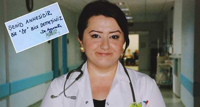 Çaykaralı doktorun şehit notu ülkede gündem oldu