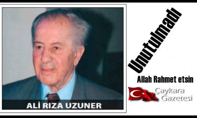 Eski Bakan Ali Rıza Uzuner için mevlit okutuldu