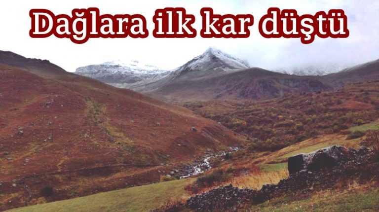 Dağlara mevsimin ilk kar'ı düştü