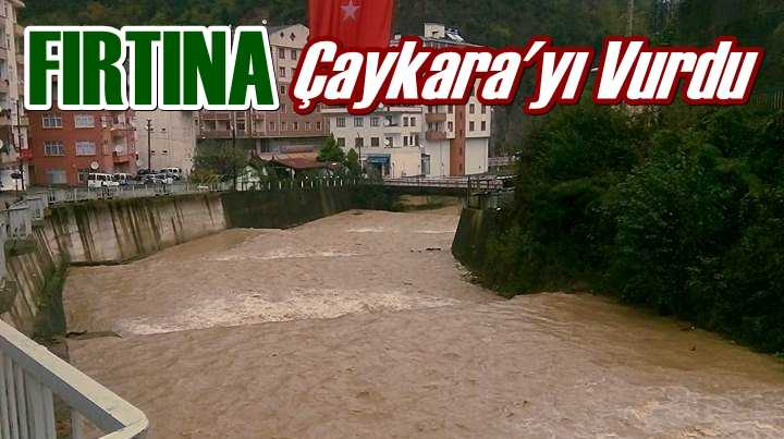 Fırtına Çaykara'da hayatı etkiledi