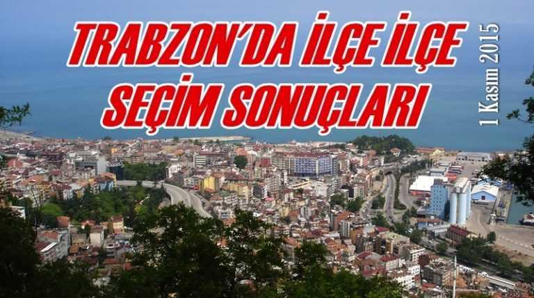 Trabzon'da ilçelere göre seçim sonuçları