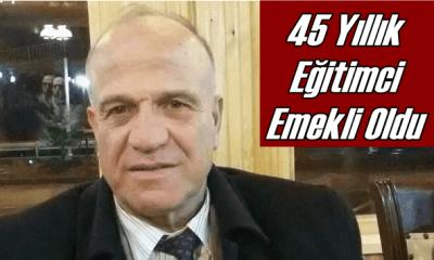 Mustafa Yılmaz 45 yıllık öğretmenlik mesleğini noktaladı