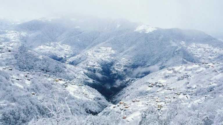 Çaykara sezonun ilk kar'ı ile buluştu 10