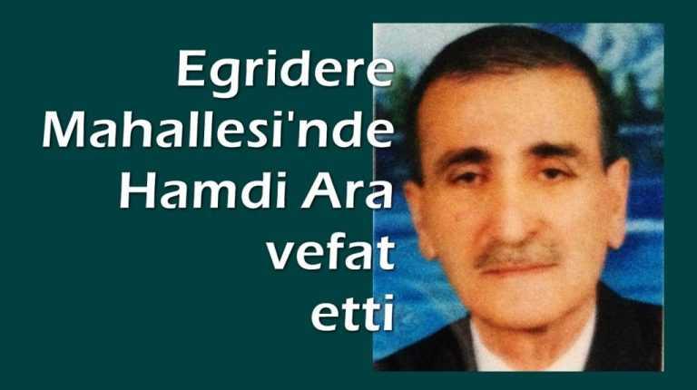 Emekli Kadastro Müdürü Hamdi Ara vefat etti