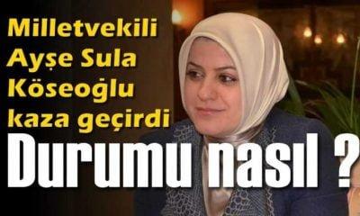 Milletvekili Ayşe Sula Köseoğlu Afyon'da kaza geçirdi