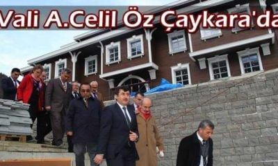 Vali Öz Çaykara'da yatırımları denetledi