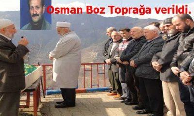 Osman Boz son yolculuğuna uğurlandı