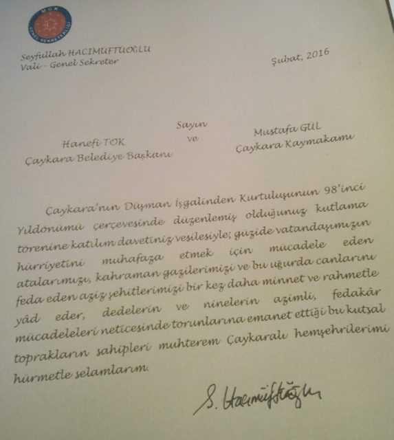 Çaykara'nın düşman işgalinden kurtuluşunun 98. yıldönümü törenlerle kutlandı 20