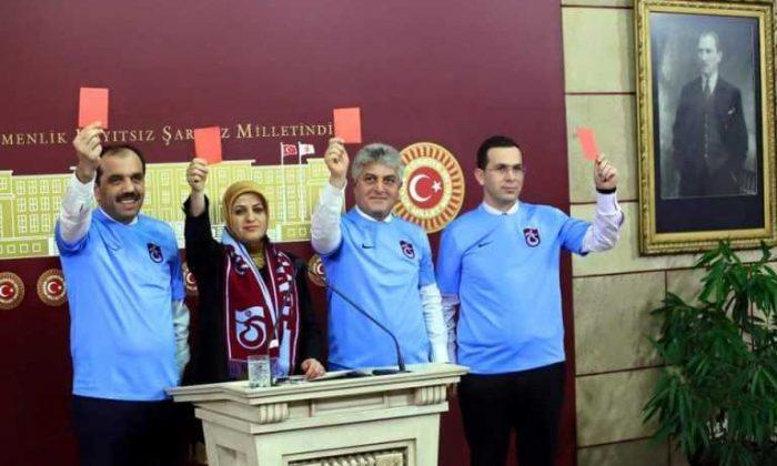 Trabzonlu Milletvekillerinden TFF'ye Kırmızı Kart!