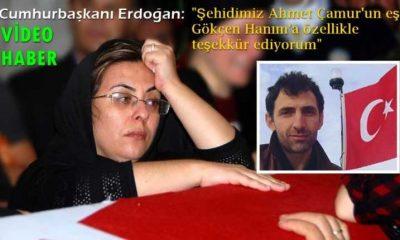Cumhurbaşkanından şehit Ahmet Çamur'un eşine özel teşekkür
