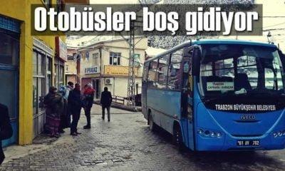 Belediye otobüslerine ilgi az