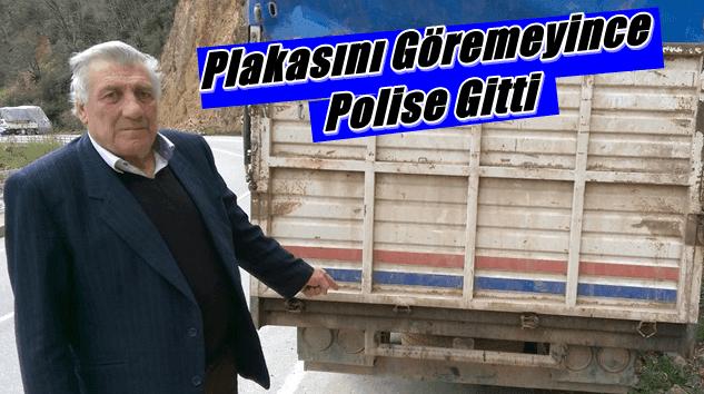 Kemal Kahveci plakasını görmeyince polise gitti