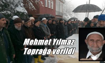 Mehmet Yılmaz kar yağışı altında son yolculuğuna uğurlandı