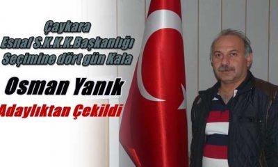 Osman Yanık adaylıktan çekildi