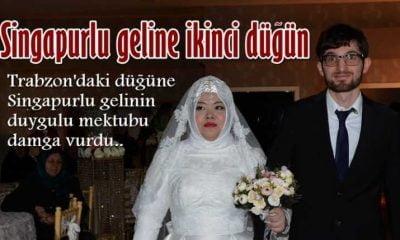 Çaykara'nın Singapurlu gelinine çifte düğün