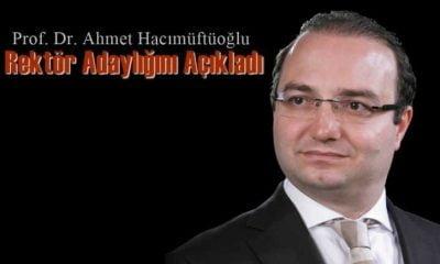 Prof. Dr. Ahmet Hacımüftüoğlu A.Ü'de Rektör adayı