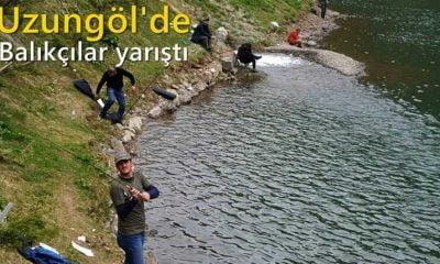 Uzungöl'de balık avcıları yarıştı