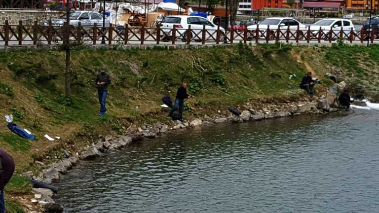 Uzungöl'de balık avcıları yarıştı 1