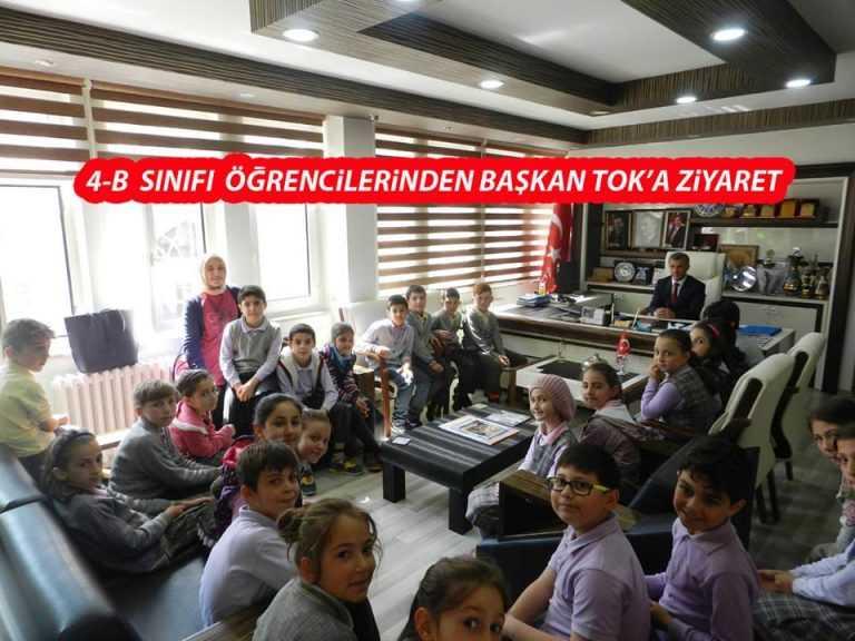 Minik öğrencilerden başkana ziyaret