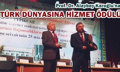 Karoğlu'na Türk Dünyasına hizmet ödülü